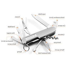 ZANMAX 13 in 1 Multi-tool Pocket Knife For Camping, Portable