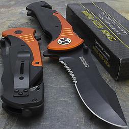 """10.5"""" EMT RESCUE SPRING ASSISTED TACTICAL FOLDING KNIFE Blad"""