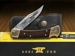 110 folding hunter knife american pride ebony