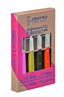 """Opinel 112 """"Les Essentiels"""" 50's Colored Stained Handle Kitc"""
