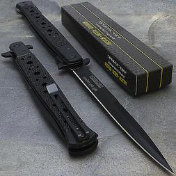 """12.5"""" TAC FORCE SPRING ASSISTED STILETTO TACTICAL FOLDING PO"""