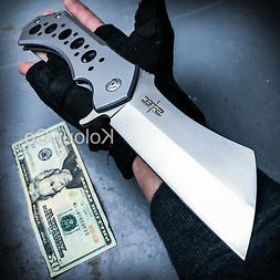 """12"""" GIANT TACTICAL Assisted Open Pocket Knife CLEAVER RAZOR"""