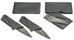 "2 Pack Folding Credit Card Knife Ultra Light 5.5"" Micro Camp"