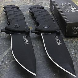 "2 x 7.75"" MTECH USA RESCUE BLADE STAINLESS STEEL TACTICAL FO"