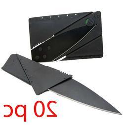 20 X Credit Card Knives Lot Folding Wallet Thin Pocket Survi