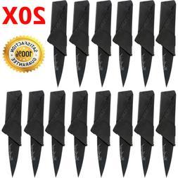 20PCS Credit Card Knives Lot Folding Wallet Thin Pocket Surv