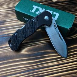 CRKT 2814 Noma Compact Black Handle Drop Point Lockback Fold