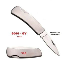"3.5""  SMALL POCKET FOLDING KNIFE  440 STAINLESS STEEL BLADE"