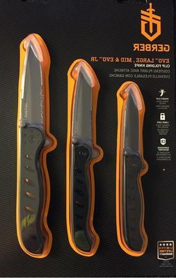 3 PACK Gerber 31-003398 EVO Large, Mid & Evo JR Pocket Clip