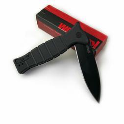 KERSHAW 3425 Les George XCOM Black Handle 8Cr13MoV Plain Edg