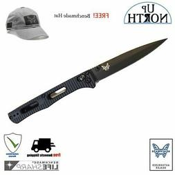 BENCHMADE 417BK FACT KNIFE BLACK HANDLE BLACK S30V SPEAR POI