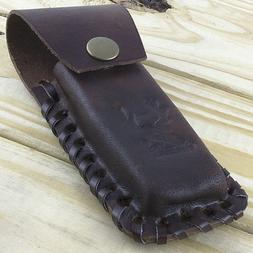 """5"""" REAL LEATHER KNIFE CARRYING POUCH w/ BELT LOOP Tool Foldi"""