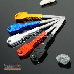 "5 COLORS 4.9"" Pocket Folding Knife Key Charm Pendant Self-De"