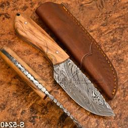 5240 | Black Buck's Handmade Damascus Steel Skinner Bush Cra