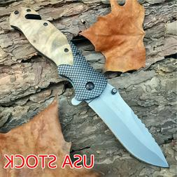ASSISTED Knives Tactical Folding Pocket Knife Titanium Outdo
