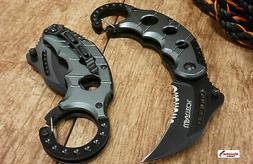 """6"""" Karambit knife with black handle key ring"""