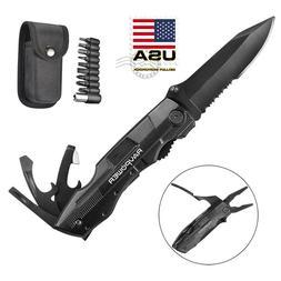 "7.5"" 5-in-1 Multitool Pocket Knife Multi Purpose Tactical Ca"