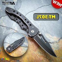 "7.5"" MTech MT-307L 440 Steel Black Military Tactical Folding"