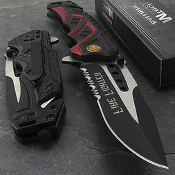 """7.5"""" MTECH USA FIRE FIGHTER RESCUE SPRING ASSISTED TACTICAL"""