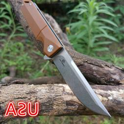 "7.9"" Knives D2 Blade G10 Handle Ball Bearing Folding Knife S"