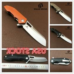 "7.9""  Tactical Survival Folding Knife D2 Blade Ball Bearing"