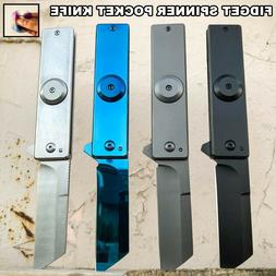 "7"" Fidget Spinner Pocket Knife Tanto Blade Spring Assisted F"