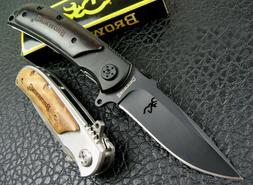 "BROWNING 8.2"" Tactical Folding Pocket Knife 440C Steel 58Hrc"