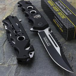 """8.25"""" TAC FORCE SKULLS SPRING ASSISTED TACTICAL FOLDING KNIF"""