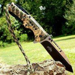 """8.25"""" Hunting Folding Pocket Knife Spring Assisted Open Camo"""