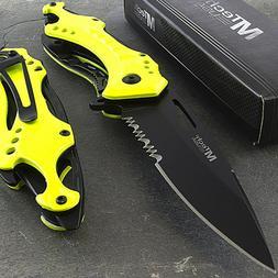 "8.25"" MTECH USA YELLOW SPRING ASSISTED FOLDING POCKET KNIFE"