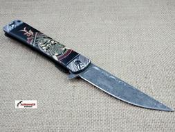 """8.25"""" Samurai Japanese Style Spring Assisted Open Pocket Kni"""