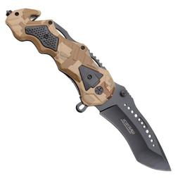 """8.5"""" Wartech Spring Assisted Opening Tactical Rescue Folding"""