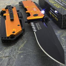 """8.5"""" EMT EMS RESCUE SPRING ASSISTED FOLDING POCKET KNIFE w/"""