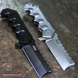 """8.5"""" Tactical CLEAVER Folding Ball Bearing Assisted Pocket K"""