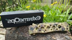 """8"""" Smith & Wesson Extreme Ops Titanium 440 Steel Blade Camo"""