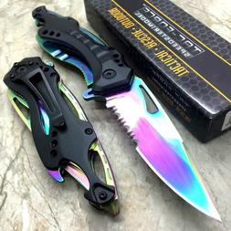 "8"" TAC FORCE RAINBOW SPRING ASSISTED TACTICAL FOLDING KNIFE"