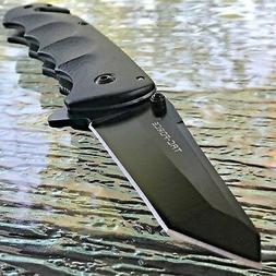"8"" TAC FORCE TANTO BLADE SPRING ASSISTED TACTICAL BLACK FOLD"