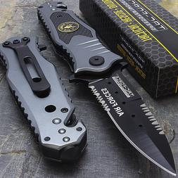 """8"""" AIR FORCE SPRING ASSISTED TACTICAL FOLDING KNIFE Blade Op"""