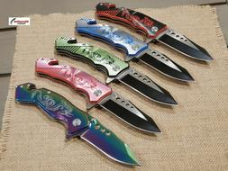 """8"""" DRAGON Tactical ASSISTED Open FOLDING POCKET KNIFE Blade"""