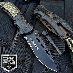 """8"""" HUNT DOWN CAMPING ASSISTED OPEN TACTICAL FOLDING POCKET K"""