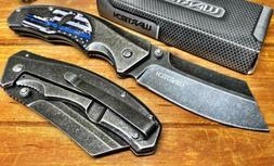 "Wartech 8"" Pocket Knife Spring Assisted Punisher Knives Ta"