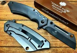 "8"" TACTICAL Spring Open Assisted Pocket Knife CLEAVER RAZOR"