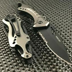 "8"" TAC FORCE SPRING ASSISTED TACTICAL GRAY FOLDING KNIFE Poc"