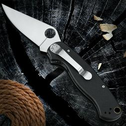 "8"" Tactical Pocket Folding Knife Blade Ball Bearing G10 Hand"