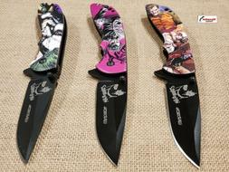 "8"" TACTICAL Assisted Open POCKET KNIFE JOKER 3 Styles FOLDIN"