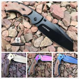"8"" Wartech Cleaver Razor Blade Assisted Open Pocket Folding"