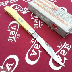 Case Yellow SS Slimline Trapper Pocket Knife
