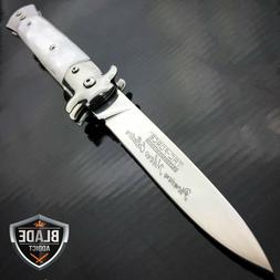 "9"" Italian Milano Stiletto Tactical Spring Assisted Pocket O"