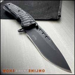 "9"" MASTER BLACK TACTICAL FOLDING SPRING ASSISTED KNIFE Blade"
