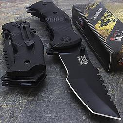 "9"" MTECH USA TACTICAL TANTO SPRING ASSISTED TACTICAL FOLDING"